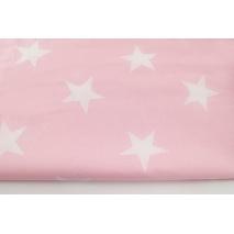 Bawełna 100% duże gwiazdy na pastelowym różu II jakość
