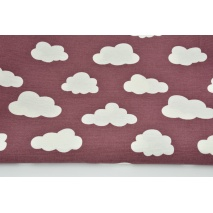 Decorative fabric, clouds on a dark heather background 170g/m2