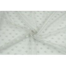 Soft tulle with dots, light gray
