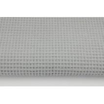 Cotton 100%, waffle fabric, plain light gray II quality
