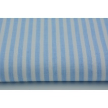 Cotton 100% blue stripes 5mm II quality