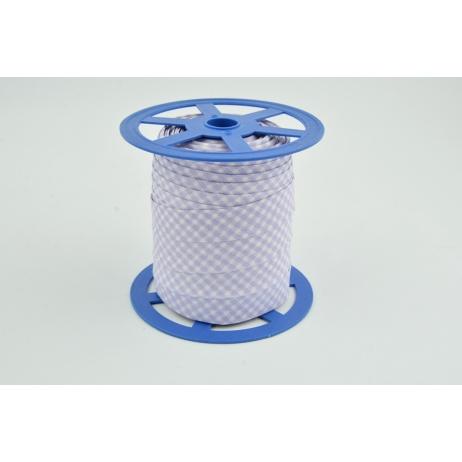 Lamówka bawełniana fioletowa krateczka vichy NR 2 18mm