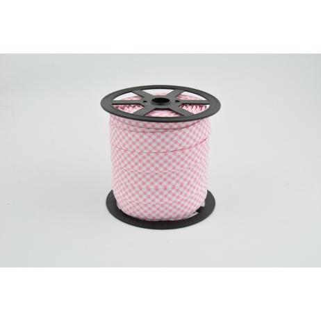 Lamówka bawełniana różowa krateczka vichy NR 2
