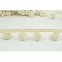 Ribbon XL pom poms, beige