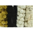 Ribbon XL pom poms, honey