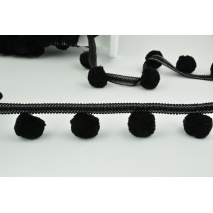 Ribbon XL pom poms, black