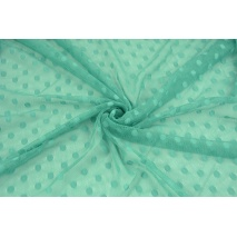 Soft tulle with dots, emerald