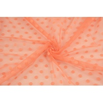 Soft tulle with dots, orange