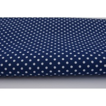 Cotton 100% polka dots 2mm on a navy blue background II quality