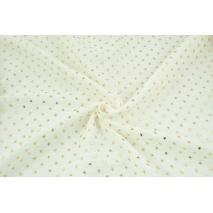 Double gauze 100% cotton golden stars on an ecru background II quality