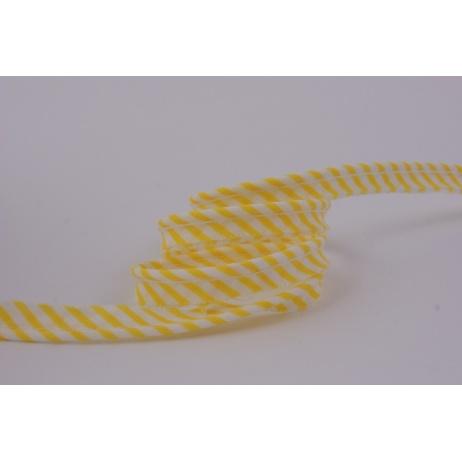 Wypustka 100% bawełna żółte paseczki