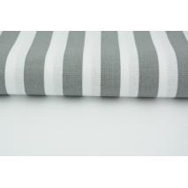 Bawełna 100% paski c.szare 15mm