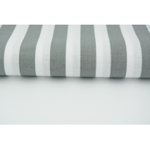 Cotton 100% dark gray stripes 15mm