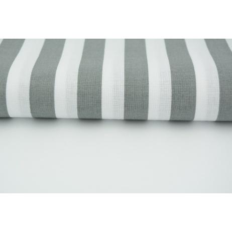 Cotton 100% dark gray stripes 15mm