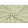Knitwear velor, creamy with beige spots