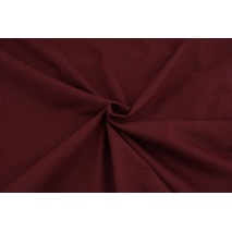 Cotton knitwear in the sleeve, plain bordeaux