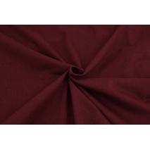 Cotton knitwear in the sleeve, plain bordeaux