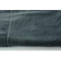 Dzianina welur, ciemny szary II jakość