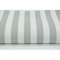 Bawełna 100% paski jasnoszare 15mm