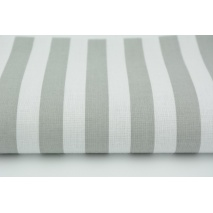Cotton 100% light gray stripes 15mm