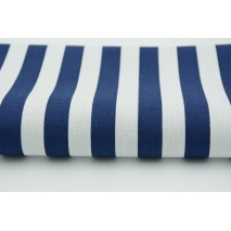 Cotton 100% navy stripes 15mm