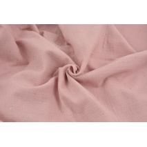 Double gauze 100% cotton gold dust on a quartz rose background