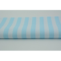 Cotton 100% turquoise stripes 15mm