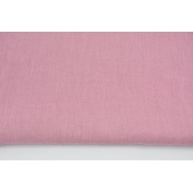 100% plain linen in dark pink color, softened 155g/m2