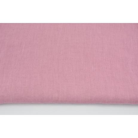 100% plain linen in dark pink color, softened 155g/m2 I