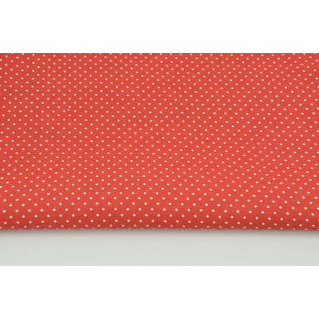 Cotton dots 1,5mm on a red background No. 2