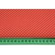 Bawełna kropki 1,5mm na czerwonym tle NR 2