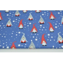 Cotton 100% gnomes on a dark blue background