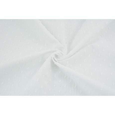 Cotton 100% plumeti white (2)