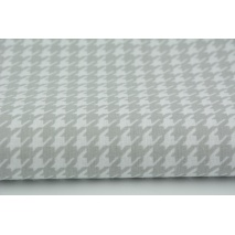 Cotton 100% light gray cheerful check