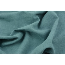 100% linen, subdued sea turquoise (stonewashed)