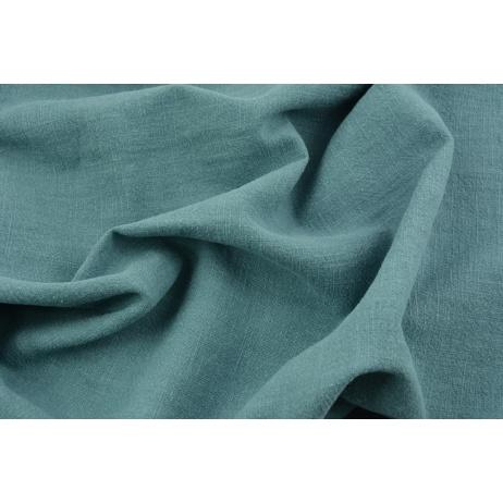 100% linen, subdued sea turquoise (stonewashed)