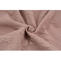 Jacquard knitwear leaves, dirty pink