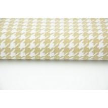 Cotton 100% beige cheerful check