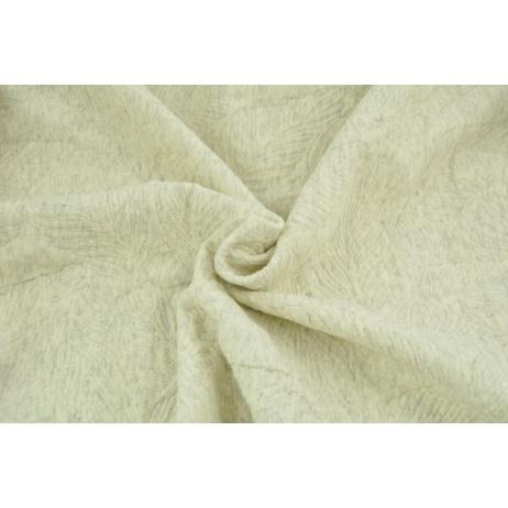 Jacquard knitwear leaves, beige melange