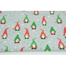 Cotton 100% gnomes on a light gray background