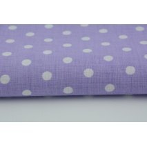 Cotton 100% white polka dots 7mm on a lavender background