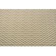 Tkanina dekoracyjna, rudo-biały zygzak na lnianym tle 200g/m2