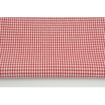 Cotton 100% small double-sided red vichy check 2mm