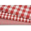 Bawełna 100% drobna czerwona kratka vichy, dwustronna 2mm