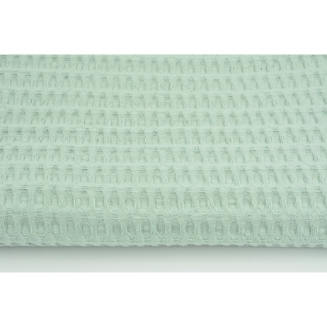 Cotton 100%, waffle fabric XL powder mint