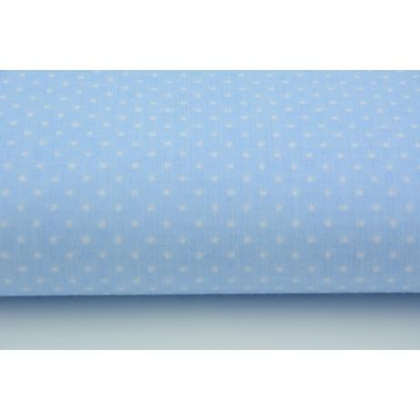 Bawełna 100% kropki białe 2mm na niebieskim tle