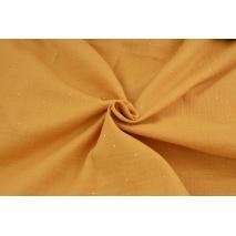 Muślin bawełniany, złoty pył na ciemnym miodowym tle II jakość