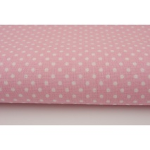 Cotton 100% white 2mm polka dots on a pink background II quality