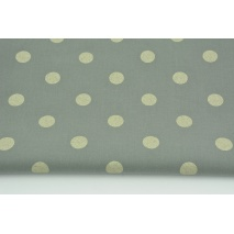 Cotton 100% dots 17mm light gold on a dark gray background
