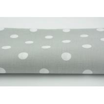 Bawełna 100% kropki 17mm na jasnoszarym tle